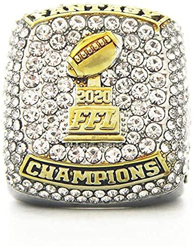 2020 Fantasy Football Championship Ring Super Bowl Ringe, Replica Ring Fans Sammler Geschenk (13,without box)