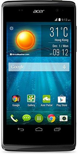 Acer Liquid Z500 Plus Smartphone (12,7 cm (5 Zoll) HD-Display, Dual-SIM, 1,3GHz, Quad-Core-Prozessor, 2GB RAM, 16GB interner Speicher, 8 Megapixel Kamera, Android 4.4 KitKat) grau