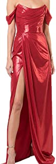 Draped Lame Gown