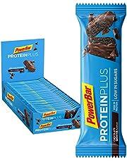 Powerbar Protein Plus Reep, Slechts 107 Kcal - Low Sugar Eiwitgrendel, Fitnessriem Met Ballast - Chocolate Brownie, 30 x 35 G