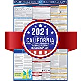 2021 California State and Federal Labor Laws Poster - OSHA Workplace Compliant 24' x 36' - All in One Required Posting - Laminated (English)
