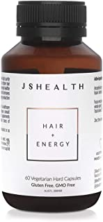 JSHealth Vitamins Hair and Energy Formula | Hair Vitamins for Women and Men | Zinc and Iodine Supplement Hair Growth Vitamin | Hair Loss Supplements | Hair Loss Products for Healthy Hair(60 Capsules)