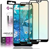 NALIA (2 Unidades) Cristal Templado Compatible con Nokia 7.1 2018, 9H Vidrio Blindado Película Protectora Film, Telefono LCD Screen-Protector de Pantalla Claro Tempered-Glass - Transparente (Negro)