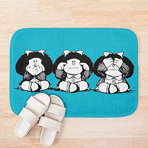 Tapis de bain Paillasson Mafalda pied tapis de bain tapis ensemble tapis matelas Absorption Kit salle de bain décor toilette voiture tapis de sol tapis Cadeau de décoration de fête de Noël-50x80cm