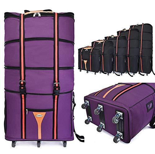 ZXY Maleta con Ruedas, Bolsa de Equipaje Grande Plegable, Cabina Equipaje 75L,Púrpura