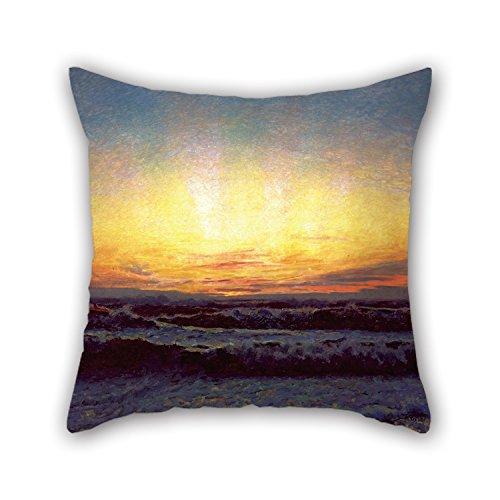Ölgemälde Laurits Tuxen – The North Sea In Stormy Weather After Sunset H?jen Kissenbezüge, 50 x 50 cm, für Spielzimmer, Kinder, Mädchen, Sohn, Zuhause, Kinderzimmer, Liebhaber auf jeder Seite