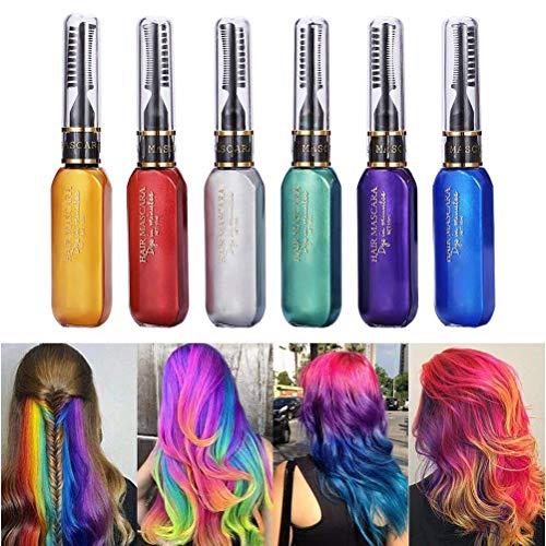 Kikier temporäre Haarfarbe, temporäre Haarfarbe, modifizierte Mascara, Einweg, ungiftig, waschbar
