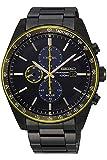 [セイコー] SEIKO 腕時計 ソーラー クロノグラフ 海外モデル ブラック/イエロー SSC723P1 メンズ [逆輸入品]