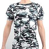Lalander T-shirt de protection rembourré pour football, basketball, paintball, sports de combat, rugby (G, S)