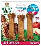 Nylabone Healthy Edibles Puppy Chew Treats, Lamb & Apple, Regular, 3 Count, Small/Regular - Up to 25 lbs. (N502VPP)
