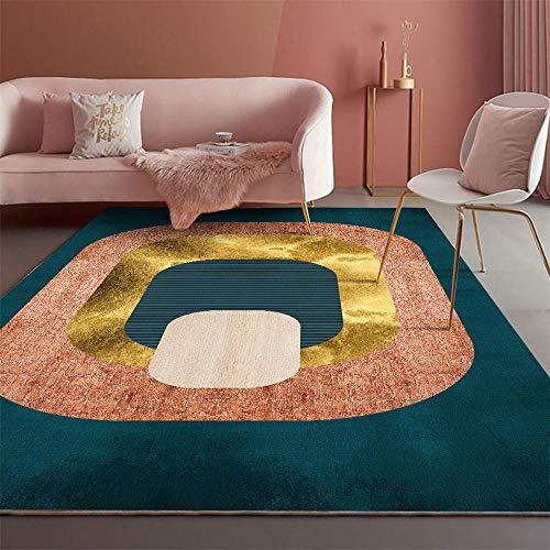 Decoraciones para Habitaciones Alfombra geométrica Amarilla roja Azul Sala de Estar Antideslizante y Resistente a la decoloración alfombras de Pasillo alfombras de habitacion Infantil 60*90cm