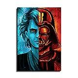 YuHui Anakin Skywalker und Darth Vader Leinwand Kunstplakat