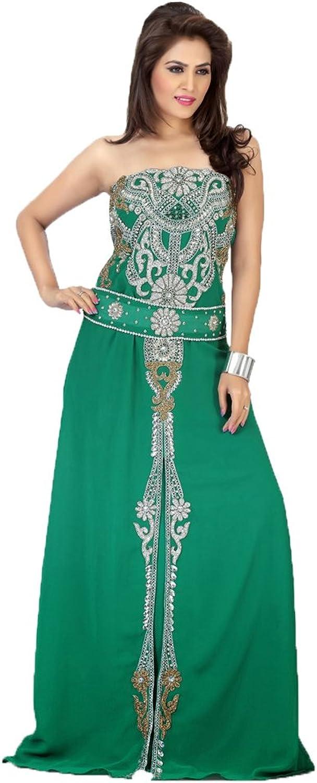 Kolkozy Fashion Women's 3 4 Sleeves Wedding Prom Dress