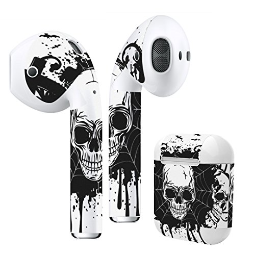 Airpods Skin + Case Skin Sticker Skin Decal for airpod Compatible with AirPods 1st(2016) and 2nd(2019) Stylish Covers for Protection & Customization 013581 SkullSkullLock