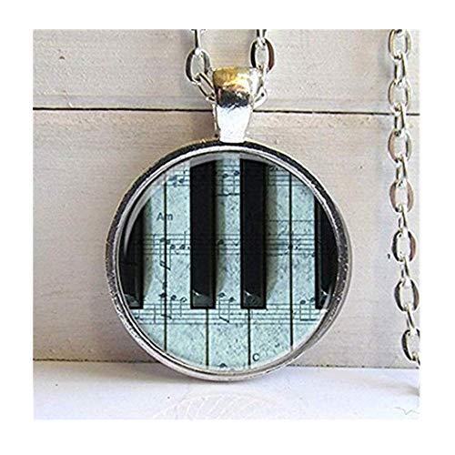 Klavier Schlüssel Halskette, Musik Lovers Halskette
