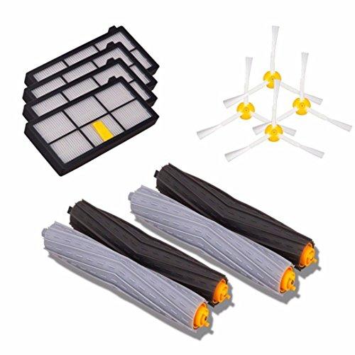 Lacaca kit di ricambio per iRobot Roomba 800/900SERIES 870880980800spazzole laterali ,4pacco kits-includes 4accessori per aspirapolvere 800Series HEPA filtri ,2pezzi Aeroforce Extractors