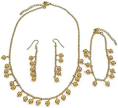 YOUZYHG co.,ltd Collana Perline Collana Orecchini Bracciali Set Ragazza Bambini Sfera Perline Set di gioielli Regali Della Micronesia