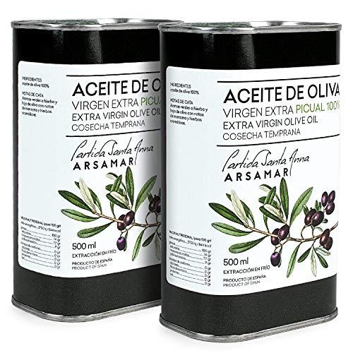 Picual Extra Vergine Olijfolie Eerste koudgeperste metalen container (2 blikken van 500 ml)