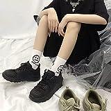 5 Pares de Calcetines de Mariposa Kawaii para Mujer, Ropa de Calle, Calcetines Negros Divertidos para Mujer, Moda-WZ055-5-b6