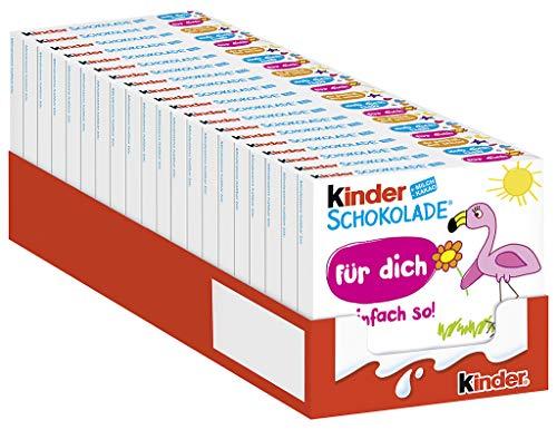 kinder Schokolade - 20 Einzelpackungen mit je 4 Riegeln, Schokoriegel aus Vollmilchschokolade und cremiger Milchfüllung mit einzigartigem Milchgeschmack