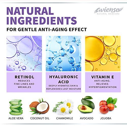 51C0+gjKFbL - Anti Wrinkle Cream for Face - Retinol & Collagen Anti Aging Cream - Made in USA - Fine Lines & Wrinkle Repair - Retinol Cream for Face with Hyaluronic Acid & Vitamin E - Face Moisturizer for Women & Men