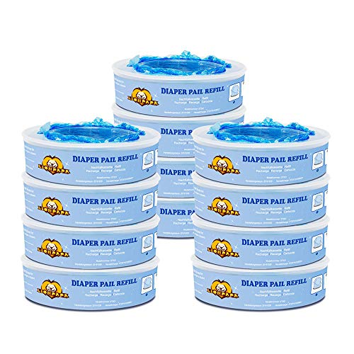 Diaper Pail Refills Compatible with Diaper Genie Pails, Munchkin Step and Munchkin Pail,12 Pack