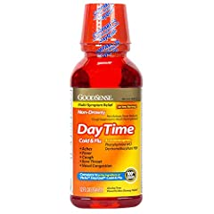 EFFECTIVE: Compare GoodSense Daytime Cold and Flu Multi-Symptom Relief to the active ingredients of Vicks DayQuil Cold & Flu. The active ingredients of this cold and flu relief liquid are Acetaminophen 325 mg, Dextromethorphan HBr 10 mg, and Phenylep...