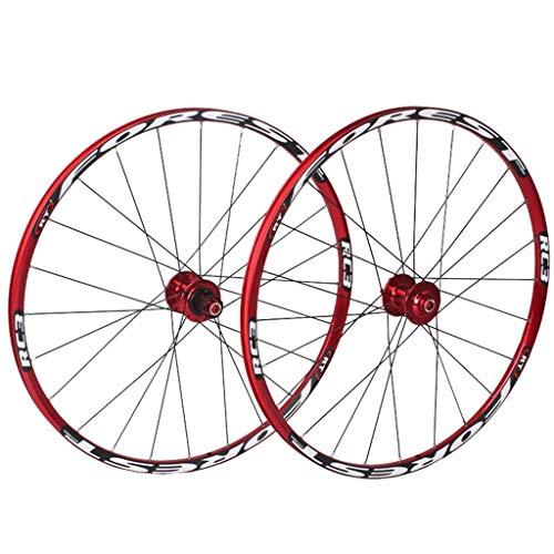 TYXTYX Rueda de bicicleta de montaña 26 27.5 pulgadas MTB doble capa llanta 7 rodamiento sellado 11 velocidad cassette Hub freno disco QR 24 agujeros 1850g