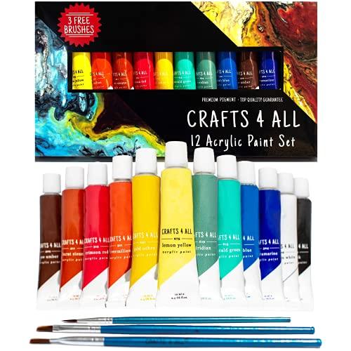 Acrylic Paint Set; 12 Colors