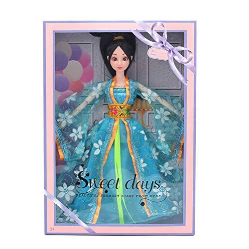 YeahiBaby Chinesische Puppe Schneeflocke Kleidung Puppe Kleid Puppe wunderschöne China Puppe für Mädchen (12 gemeinsame Puppen Kostüme)