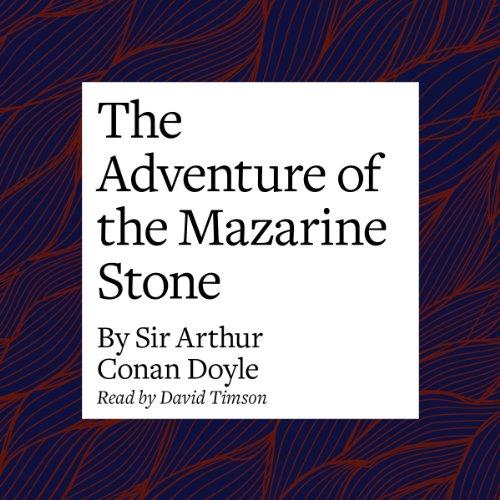 The Adventure of the Mazarin Stone copertina