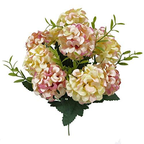 WanTo 10 Köpfe Künstliche Hortensie Brautstrauß Hochzeit Dekoration Simulierte Blume Partei Liefert, A