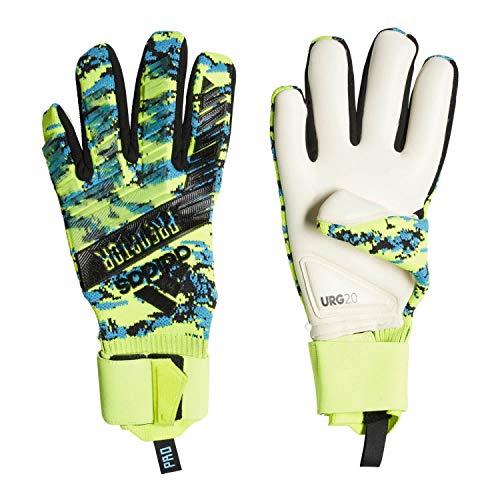 adidas Herren Predator Pro Manuel Neuer Torwarthandschuhe, solar Yellow/Bright Cyan/Black, 12