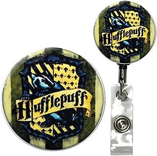 Wizard House Team Symbol Real Charming Heavy Duty Belt Clip Metal ID Badge Holder Badge Reel (Huff HD)