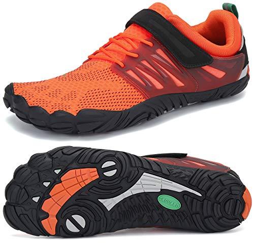SAGUARO Klettverschluss Barfuß Schuhe für Männer und Frauen Sommer Ultraleicht Trail Laufschuhe Wasser Sportschuhe Outdoor-Übung Wasserschuhe Bootfahren Fahren rutschfest Surfschuhe, Water Orange 38