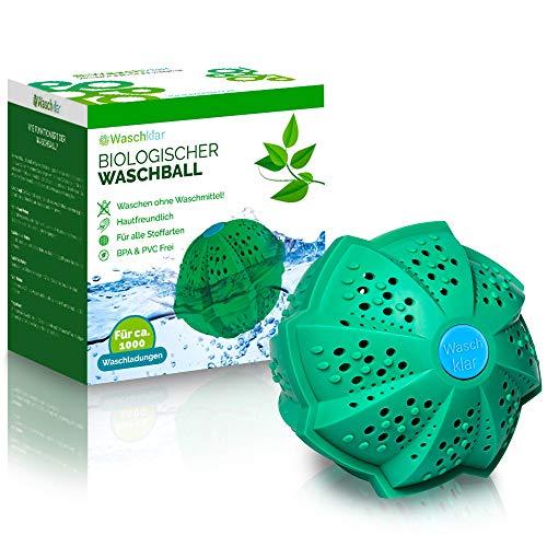 Waschklar® Premium Waschball | Saubere Wäsche ohne Waschmittel - Nachhaltig, vegan & zero waste, Nachhaltige Produkte, Waschkugel für Waschmaschine, Öko und Bio Wäscheball