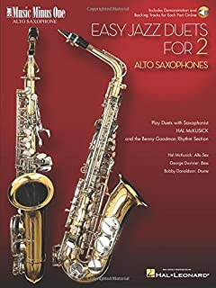 Easy Jazz Duets for 2 Alto Saxophones and Rhythm Section: Music Minus One Alto Saxophone