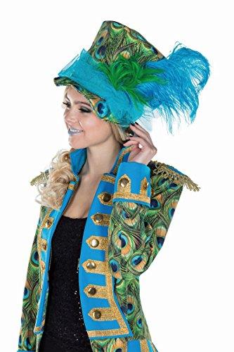 Mottoland GmbH Disfraz de Pavo Real para Mujer Sombrero Accesorio para Disfraz Gorros Pájaro Carnaval