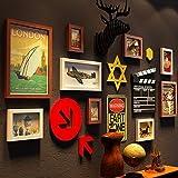 Marcos de fotos de 11 piezas, set de imágenes de pared, dos de 11,3 x 15,2 cm, seis de 15,2 x 20,3 cm, uno de 22,7 x 27,7 cm, uno de 27,7 x 37,7 cm, uno de 17,7 x 32,7 cm
