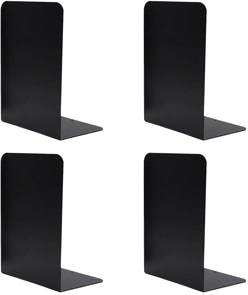 JLENOVEG Columbus Mall Bookends Max 42% OFF Nonskid Metal Holder Book Suppo Books
