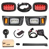 10L0L Upgrade Golf Cart LED Headlight Taillight Kit for Club Car DS, with Low/High Beam, Turn Signals Hazard Light Switch, Horn, Brake Pad, Daytime Running Lamp