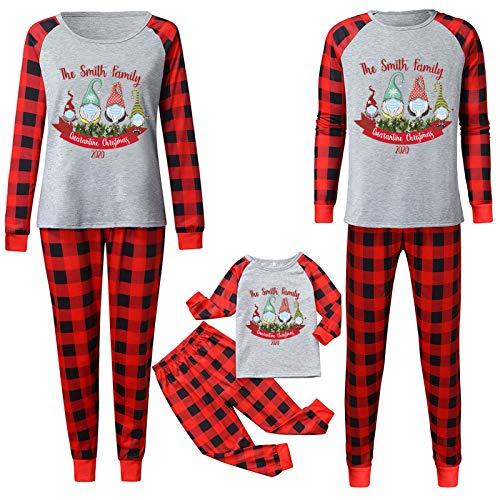 Sugely - Conjunto de pijama de Navidad para mujer, hombre, mamá, papá, niños y niños, para bebé, Navidad, ropa de noche para el hogar, tops y pantalones de Navidad