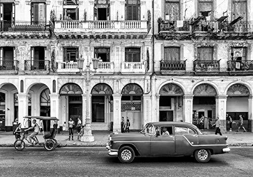 Forwall Fototapete Vlies Tapete Wanddeko Stadt Auto - Oldtimer Kuba Havanna Moderne Wanddekoration 12673V8 368cm x 254cm Schlafzimmer Wohnzimmer
