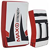 Maxstrength Training Equipment MMA Curved Strike Shield Boxing Punch Bag - White/Black/Red