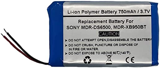 750mAh/3.7V Replacement Battery for Sony MDR-DS6500, MDR-XB950BT,1-756-920-21, 1-756-920-31, LIS1427HEPCC, LIS1427NHPCC