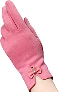 pink gloves with bow
