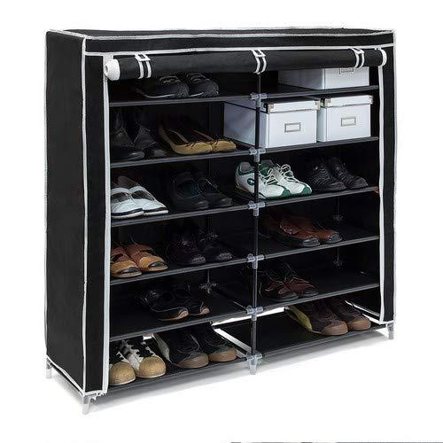 Relaxdays schoenenkast modern 108,5 x 114 x 30,5 cm zwart