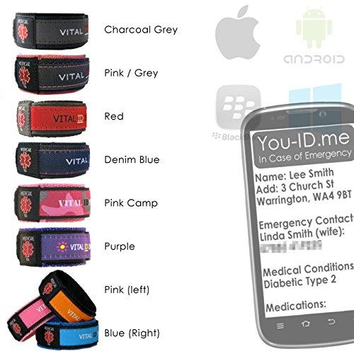 Medische Identiteit Armband Polsband & Foto Medische ID Card Combo SAVER Deal. GRATIS toegangstoken tot You-ID.me Med-ID-systeem van wereldklasse. GRATIS speciale pen. Diabetes, Astma, Autisme, ADHD etc. Large (Adult) Grijs