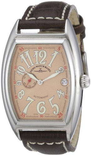 Zeno Watch Basel Unisex-Armbanduhr Tonneau OS Analog Automatik Leder 8081-9-h6