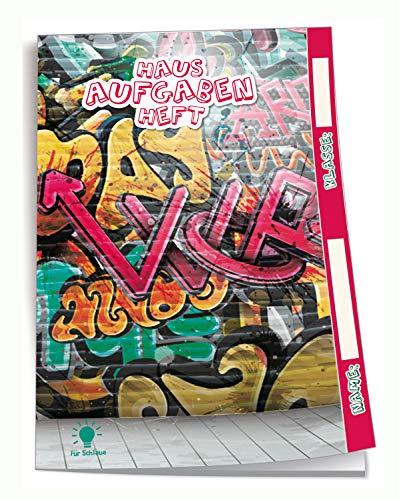 Edition Trötsch 201839N - Cuaderno de deberes, DIN A5, diseño de graffiti, 96 páginas, con sobre transparente